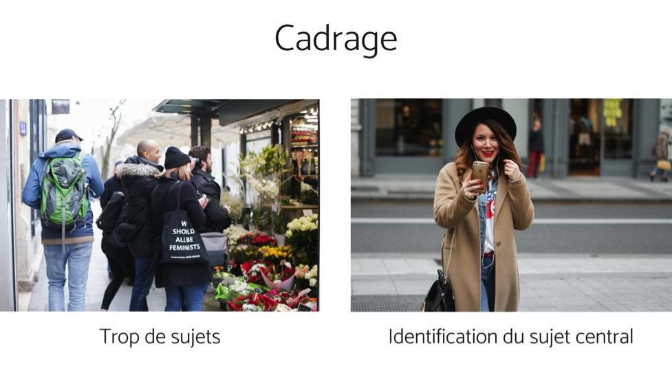 5 erreurs de débutant qui gâchent vos photos - cadrage